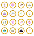 spa cartoon icon circle vector image