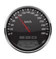 speedometer black speed gauge with metal frame vector image vector image