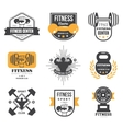 Sport and Fitness Logo Templates Gym Logotypes vector image vector image