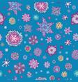 summer doodle floral pattern vector image