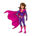 Superhero Girl Standing vector image