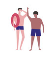 swimming boys summer hobpeople athletic vector image