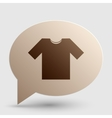 T-shirt sign Brown gradient icon on vector image