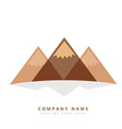 three mountain shapes design vector image