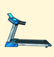treadmill sports equipment for training fitness vector image