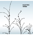 Wire grid trees made of connected dots vector image vector image