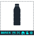 Bottle icon flat vector image