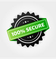 100 secure grunge stamp badge or button
