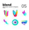 abstract chaotic shape form for your design vector image