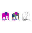 abstract elephant with indian patterns vector image