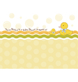 baby shower card with duck toys vector image vector image