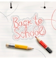 Back to school handwritten with red pencil