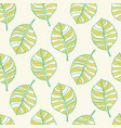 beautiful tropical leaves seamless pattern vector image vector image