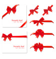 Big set of red gift bows vector | Price: 1 Credit (USD $1)