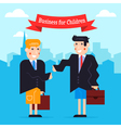 Business kids vector image