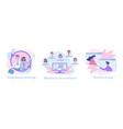 business network icons vector image