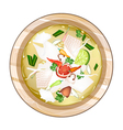 Chicken Tom Yum or Thai Spicy Sour Soup vector image vector image