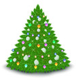 christmas tree garland balls stars vector image