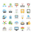 cloud computing icons set 6 vector image vector image