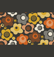 creative vintage stylized floral pattern vector image vector image