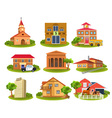 different buildings vector image vector image