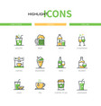 drinks - modern line design style icons set vector image