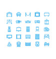 event supplies flat line icons party equipment - vector image vector image