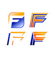 f letter logo template collection vector image vector image
