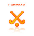 field hockey icon isolated on white vector image vector image