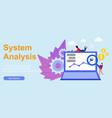 flat web analytics analysis design vector image vector image