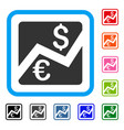 forex market chart framed icon vector image vector image
