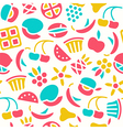 Fruit seamless pattern in flat style vector image