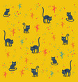 funny cats pattern vector image vector image