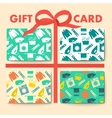 Gift cards with laundry and washing seamless vector image vector image