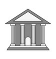 greek building vector image