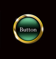 green shiny button with metallic elements vector image vector image