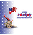 happy 4th july usa independence day greeting vector image
