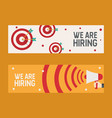 hiring recruitment design flyer we are hiring vector image