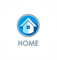 home icon logo vector image vector image