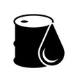 isolated oil barrel icon vector image vector image