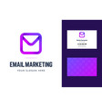 logo and business card template for email vector image vector image