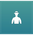 man on hat avatar vector image vector image