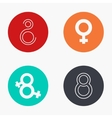 modern 8 march colorful icons set vector image