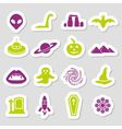 mystic stickers vector image vector image