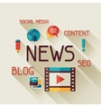 News concept in flat design style vector image vector image