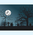 night cemetery vector image vector image