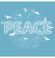Peace lettering with birds vector image vector image
