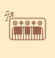 piano musical instrument baby toy cartoon style vector image vector image