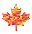 polygon autumn maple leaf vector image vector image