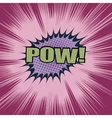 Pow comic cartoon wording vector image vector image